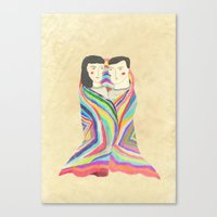 blanket Canvas Prints featuring blanket by lazy albino