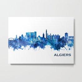 Algiers Algeria Skyline Blue Metal Print