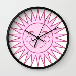 Happiness in Pink - Sunshine Series Wall Clock