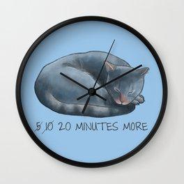Sleepy Cat - 20 minutes more - Lazy Animals Wall Clock