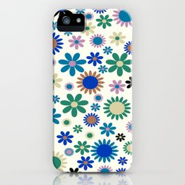 Colorful flowers Flower Power Festival iPhone Case