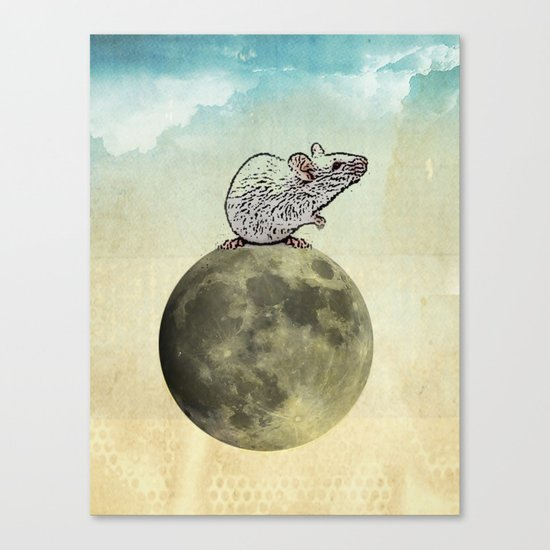 Tiny and the Cheese Moon Canvas Print