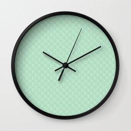 Summermint Pastel Green Mint Puffy Quilt Wall Clock