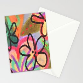 Wild Flowerz Abstrat Digital Painitng Stationery Cards