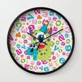 Birthday Monsters 4th Birthday Wall Clock