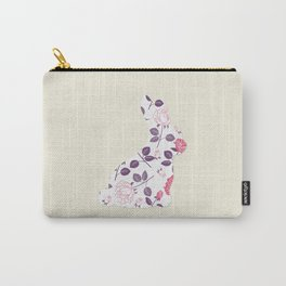 Rose Rabbit Carry-All Pouch