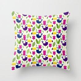 Tropical Toucans Throw Pillow
