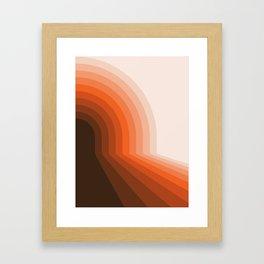 Desert Dusk Halfbow Framed Art Print