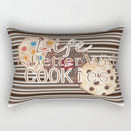 Life Is Better With Cookies Rectangular Pillow