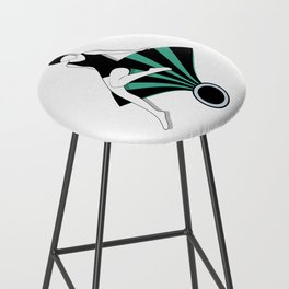 Art Deco Swimmers Bar Stool