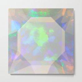 Ethiopian Opal Gemstone Metal Print