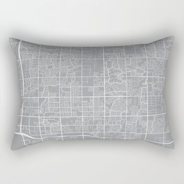 Chandler Map, Arizona USA - Pewter Rectangular Pillow