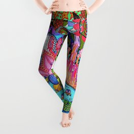 Pond Abstract Leggings