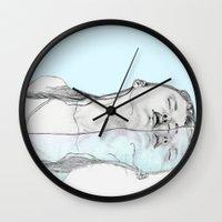 swim Wall Clocks featuring Swim by Christina Marie