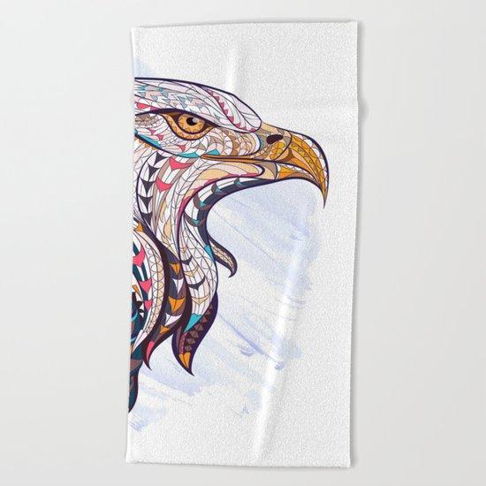 Colorful Ethnic Eagle Beach Towel