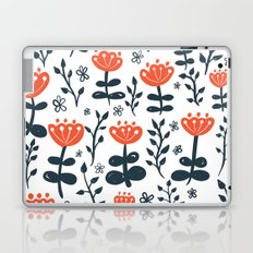 Red Blooms Laptop & iPad Skin