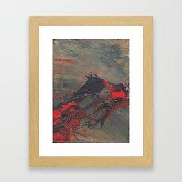 Battling Nerves Framed Art Print