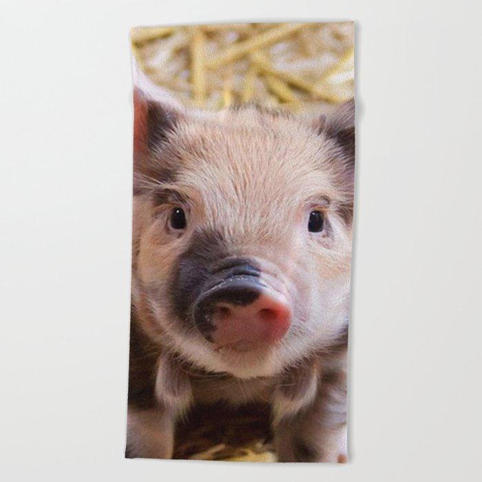 Sweet Piglet Beach Towel