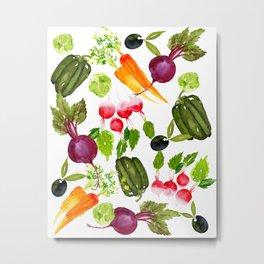 Mixed Vegetables Metal Print