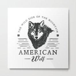 American Wolf Metal Print
