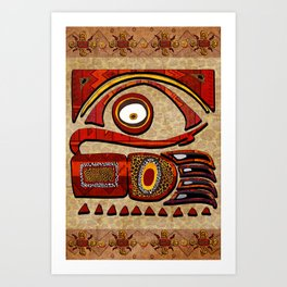 Chu Mtu African Folk Art Art Print