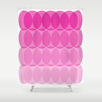 ombre Shower Curtains featuring Ombre by TypeArtist
