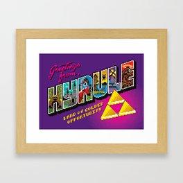 Greetings from Hyrule Framed Art Print