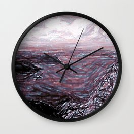 Rockies Mountain Wall Clock