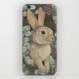winter rabbit iPhone Skin