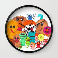 muppet Wall Clocks featuring Muppet Doodle Jam! by Orangeblowfish