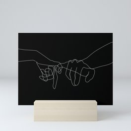 Black Pinky Swear Mini Art Print