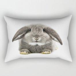 Bunny rabbit sitting Rectangular Pillow