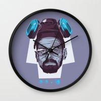 breaking Wall Clocks featuring BREAKING BAD by Mike Wrobel