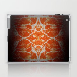 Orange kaleidoscope pattern Laptop & iPad Skin