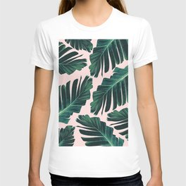 Tropical Blush Banana Leaves Dream #1 #decor #art #society6 T-shirt