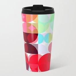 Mixed color Poinsettias 1 Abstract Circles 3 Travel Mug