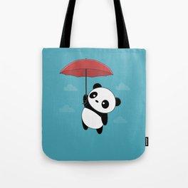 Kawaii Cute Panda With Umbrella Tote Bag