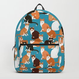 Ginger Cats on turquoise Backpack
