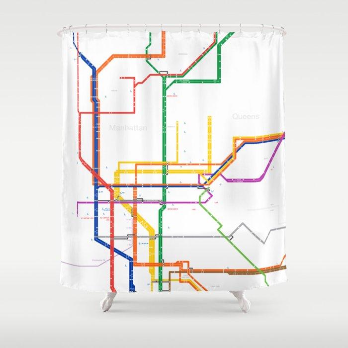 New York City Subway Map Shower Curtain By Igorsin