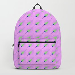 Peacock Feather Print Backpack