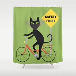Safety first Shower Curtain