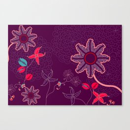 jungle delights deep velvet art print Canvas Print