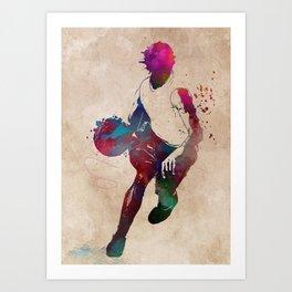 basketball player #basketball #sport Art Print