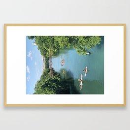 Lady Bird Lake Framed Art Print