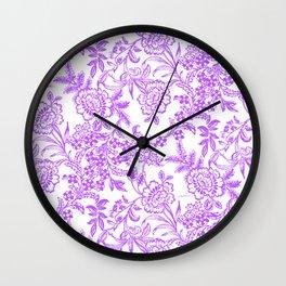 Radiant Orchid Tea Reversed Wall Clock