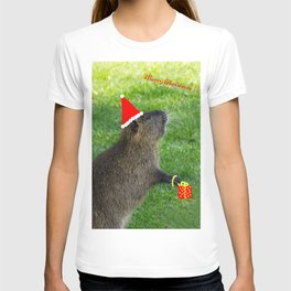 just for fun - a nutria santa ??? T-shirt