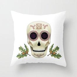 Knotwork Skull Throw Pillow