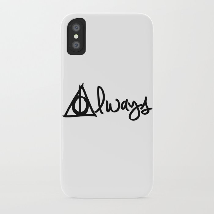 Always, Deathly Hallows, Harry Potter iPhone Case