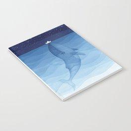 Whale blue ocean Notebook