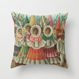 Mexico South by Miguel Covarrubias Throw Pillow